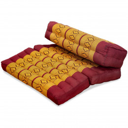 Block pillow (foldable) red / yellow