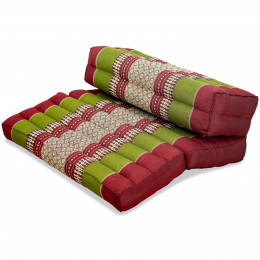 Block pillow (foldable) red / green