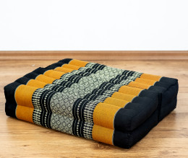 Block pillow (foldable) black / orange