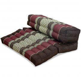 Block pillow (foldable) bordeaux