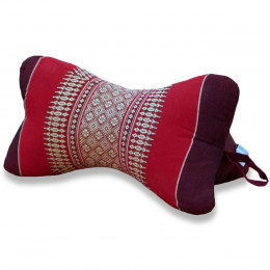 Bone Neck Pillow, ruby-red