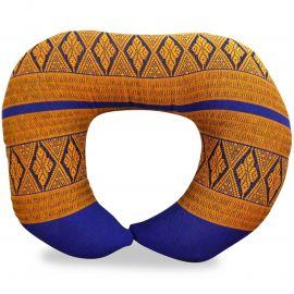 Kapok Neck Pillow, blue / yellow