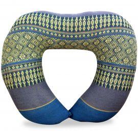 Kapok Neck Pillow, light blue