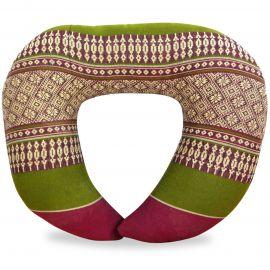 Kapok Neck Pillow, red / green
