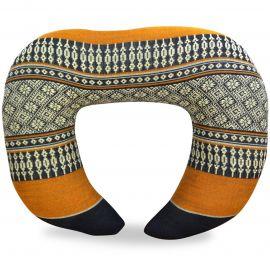 Kapok Neck Pillow, black / orange