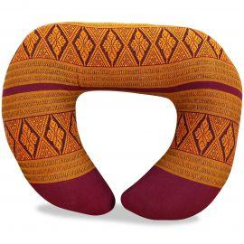 Kapok Neck Pillow, red / yellow