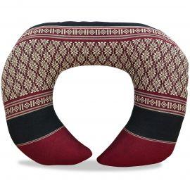 Kapok Neck Pillow, red / black