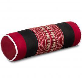 Kapok Bolster, Neck Pillow, red / elephants