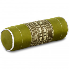 Kapok Bolster, Neck Pillow, green / elephants