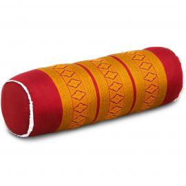 Kapok Bolster, Neck Pillow, red / yellow