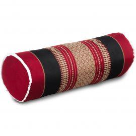 Kapok Bolster, Neck Pillow, red / black