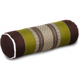 Kapok Bolster, Neck Pillow, brown-green