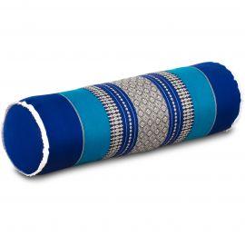 Kapok Bolster, Neck Pillow, blue