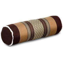 Kapok Bolster, Neck Pillow, brown