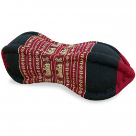 Papaya Neck Pillow, red / elephants