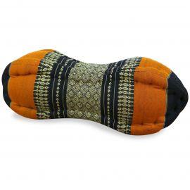Papaya Neck Pillows, black / orange