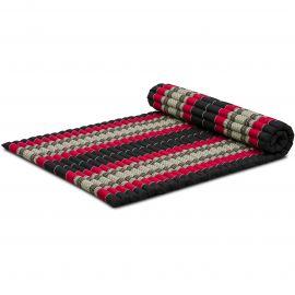 Roll Up Mattress, L, black / red