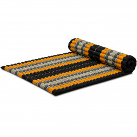 Roll Up Mattress, L, black / orange