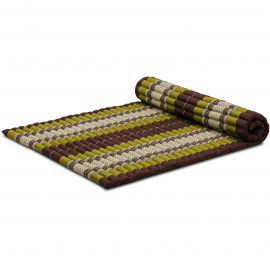 Roll Up Mattress, L, brown / green