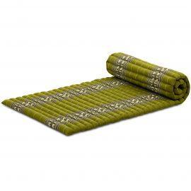 Roll Up Mattress, M, green elephants