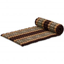Roll Up Mattress, M, brown elephants