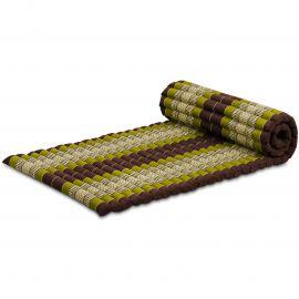 Roll Up Mattress, M, brown / green