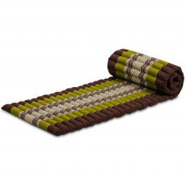 Roll Up Mattress, S, brown / green