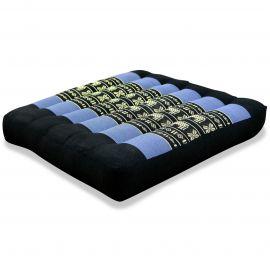 Kapok Seat Cushion, Size M, blue elephants