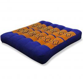 Kapok Seat Cushion, Size M, blue yellow