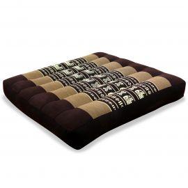 Kapok Seat Cushion, Size M, brown elephants