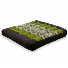 Kapok Seat Cushion, Size M, brown / green