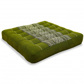 Kapok Seat Cushion, Size M, green