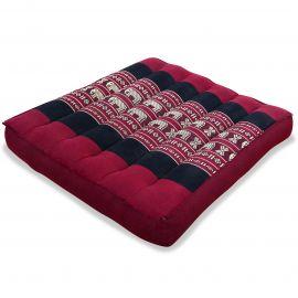 Kapok Seat Cushion, Size M, red elephants