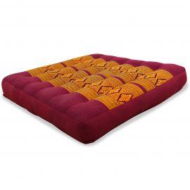 Kapok Seat Cushion, Size M, red / yellow
