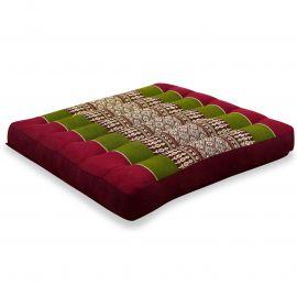 Kapok Seat Cushion, Size M, red / green