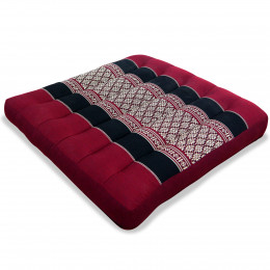 Kapok Seat Cushion, Size M, red / black