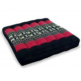 Kapok Seat Cushion, Size M, black elephants