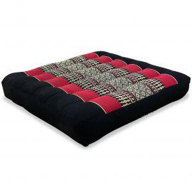 Kapok Seat Cushion, Size M, black / red