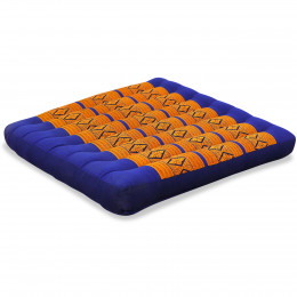 Kapok Seat Cushion, Size L, blue yellow