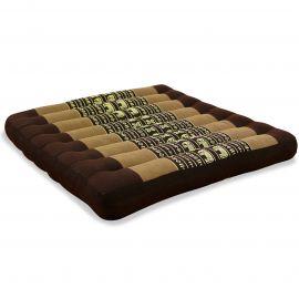 Kapok Seat Cushion, Size L,  brown elephants