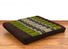 Kapok Seat Cushion, Size L,  brown / green