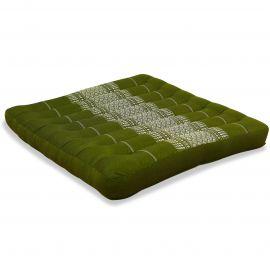 Kapok Seat Cushion, Size L,  green