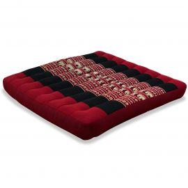 Kapok Seat Cushion, Size L,  red elephants