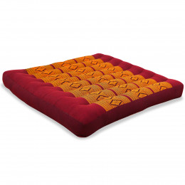 Kapok Seat Cushion, Size L,  red / yellow
