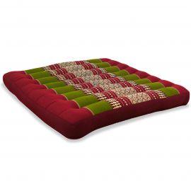 Kapok Seat Cushion, Size L,  red / green