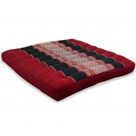 Kapok Seat Cushion, Size L,  red / black