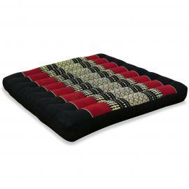 Kapok Seat Cushion, Size L,  black / red