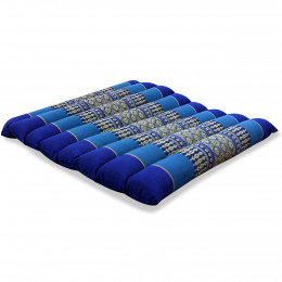 Kapok Quilted Seat Cushion, Size M, blue