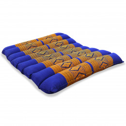 Kapok Quilted Seat Cushion, Size M, blue / yellow