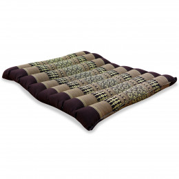 Kapok Quilted Seat Cushion, Size M, brown